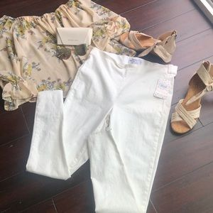 Free people jeans white size 29 high waist